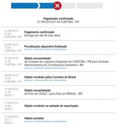 16682037c1 Exemplo de um rastreio com o despacho postal pago! Prazo de 40 dias UTEIS  para entrega.